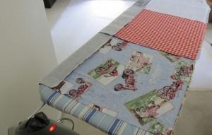 Ironing top seams flat