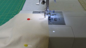 Sewing two panels of backing