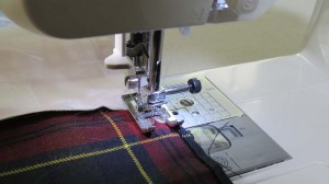 Sewing two strips together