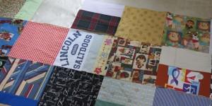 Strips ready to sew