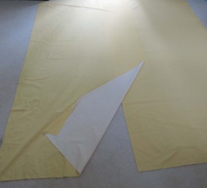 Two pieces of backing