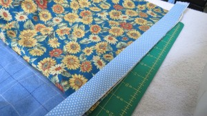 Binding lined up on raw edges
