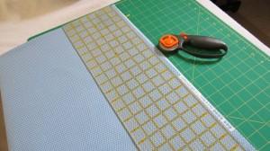Squaring binding fabric