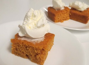 Finished Angel Food Pumpkin Cake