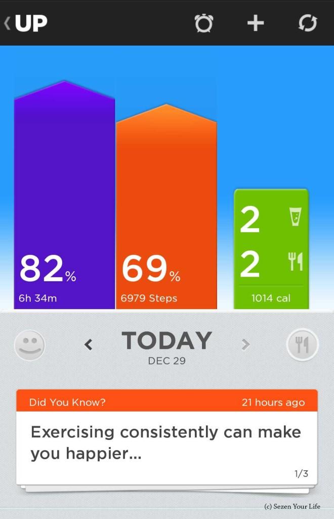 Jawbone UP App Home Screen
