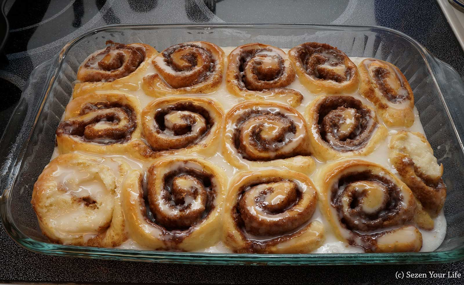 Finished Cinnamon Rolls by Sarah Franzen