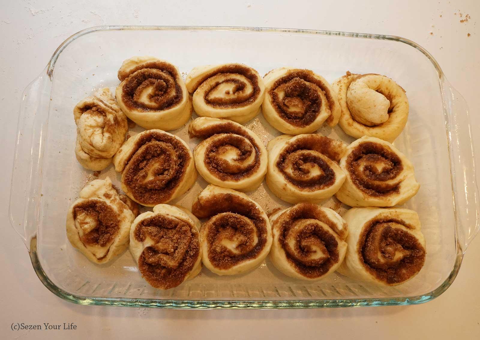 Cinnamon Rolls Ready for Baking by Sarah Franzen