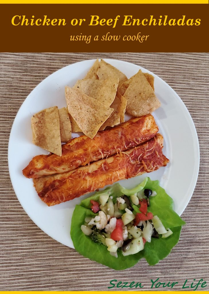 Chicken or Beef Enchiladas by Sarah Franzen